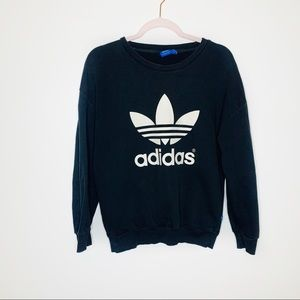 Adidas Originals Black Trefoil Crewneck Sweater